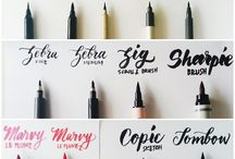 Brush Lettering, handwriting and penmanship