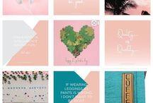 Instagram theme layout