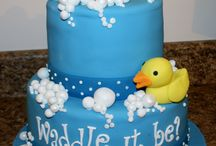 Baby Shower/ Welcome Baby Cakes / Baby Shower and Welcome Baby cakes custom created by The Icing Baking Company.