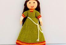 Medieval Doll Knitting Pattern / Original knitting pattern from - http://edithgrace.blogspot.co.uk/