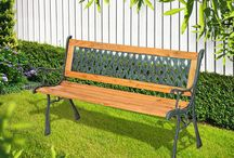 Metal Wooden Bench Garden Patio Outdoor Seating Top Beautiful Furniture Classic