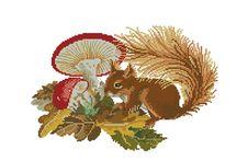 Bügelperlen Eichhörnchen & Co