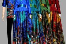 Gamis batik semi sutra