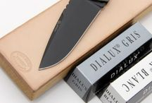 Leather sharpening blocks and accessories for knives / Leather strops and compaunds for knives