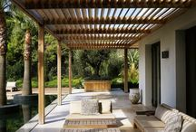 Outdoors, patios, decks and roofs, pergolas and awnings.