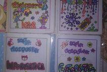 Cuadernos y letras