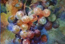 фрукты акварель