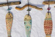 Driftwood stuff fish etc