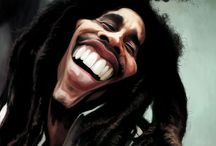 caricature of bob marley