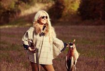 Leather Tweed Cape