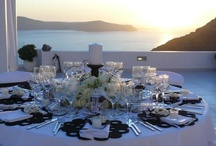 Black & White Wedding Inspiration / Black and White Theme is a great idea for a wedding in Santorini. Choose a white wedding venue and let's create a miracle with black details for decoration!