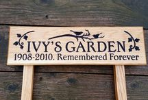 Wooden Personalised Oak Freestanding Ladder Signs / Looking for a solid oak engraved freestanding house sign? Check out our website: www.bramblesigns.co.uk
