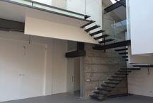 Intervento di manutenzione straordinaria Via Ajraghi / Progetto solaio elevazioni e scale di soppalco in carpenteria metallica