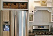 Mensole sopra frigorifero