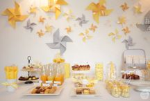Sweet table jaune et gris