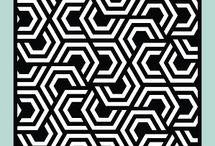 Nesting Hexagons Stencil