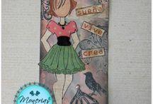 My Prima Doll / Tags y trabajos mixed media usando Julie Nutting-Prima Doll