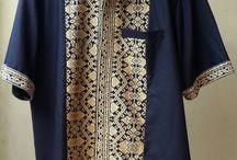 Kemeja Pria Kombinasi Batik