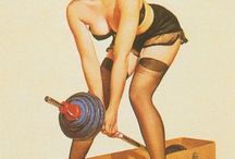 Fitness Pin-up
