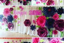 объемные цветы декор