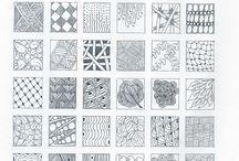 Zentangle - Doodle - Muster