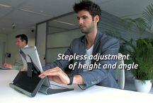 TabletRiser / TabletRiser improving tablet ergonomics in a variety of locations