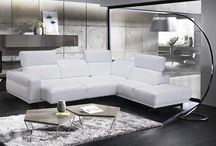 Modern Contemporary Italian Leather Sectional In White