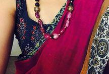 neck pieces for saree