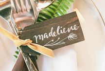 wedding CARDS / some beautiful idea collection for your wedding reception table plan, place cards, guest favors ...