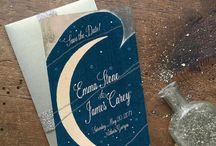 Starry Night Constellation Wedding Invitations / Oh starry night... looking for a constellation themed wedding invitation? These vintage inspired wedding invitations and constellation save the dates might be perfect to add drama and color to your big day. Fully customizable-- whether you accent with gold or silver, these star wedding invitations are sure to be stellar!  www.gogosnap.com