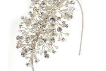 Bridal Sidebands / Swarovski crystal and pearl side bands