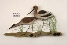 Bird Sculptures / Bird Sculptures. Heron Wall Art. Sandpiper Art. Crane Sculptures. Sandhill Crane Art. Parrot Wall Hangings. / by ShopBeachDecor