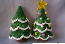 árvores  de natal  em croche
