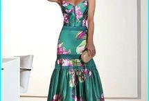 Vestido semi formal largo