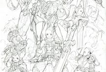 sketches & lineart