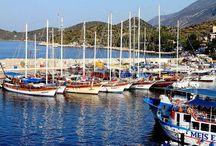 Town of Kas in Antalya Turkey