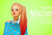 Прически Hair Sims 4