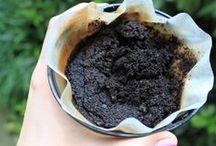 utilizar borra de café