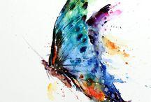 acuarelas mariposas