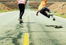 What skateboarding do w/ people
