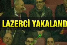 Galatasaray tribünindeki lazerci taraftar yakalandı