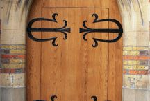 Blacksmith made doors and door furnishings