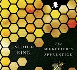 """The Beekeeper's Apprentice / """"I was fifteen when I first met Sherlock Holmes...""""  The first in Laurie R. King's Mary Russell series."""