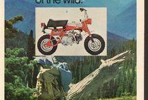 monkey bizness / honda, honda monkey, vintage minibikes, girls and guys on bikes, vintage bike ads