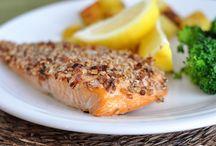 Recipes--Fish / salmon recipes -- shrimp recipes -- tilapia recipes