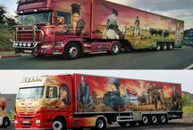 beschilderde trucks / beschilderde trucks