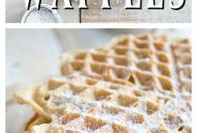 Waffel  and pancakes