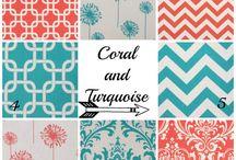 Coral and Aqua !