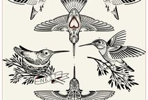 Tatoo hummingbirds