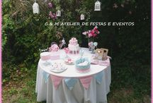 SHABBY CHIC TABLE / Table design - umdiadefesta ; Graphic design and party kit - shop decora a festa ; Sweets and other food - Bolos e Bolinhos Atelier